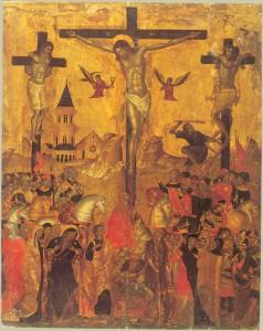 «Распятие», Эммануил Лампардос, XVII в., критская школа. Эрмитаж.